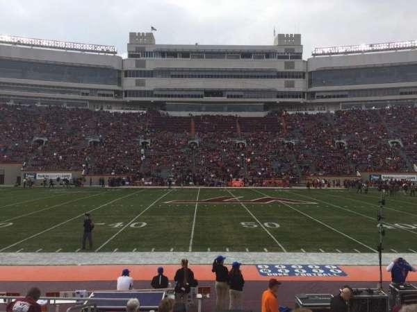 Lane Stadium, secção: 11, fila: K, lugar: 2