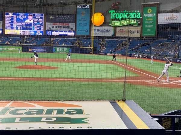 Tropicana Field, secção: 111, fila: N, lugar: 10