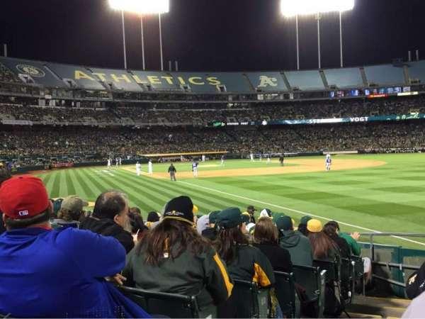 Oakland Coliseum, secção: 104, fila: 13, lugar: 15