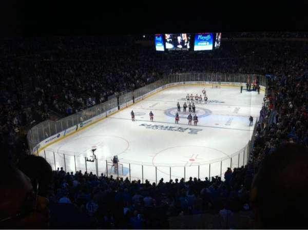 Madison Square Garden, secção: 344, fila: 3, lugar: 10