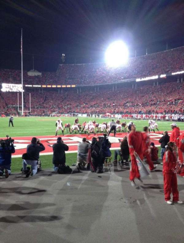 Ohio Stadium, secção: 37AA, fila: 1, lugar: 20
