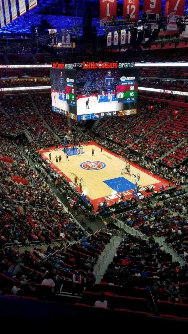 Little Caesars Arena, secção: 222, fila: 1, lugar: 1