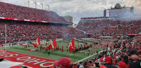 Ohio Stadium, secção: 9A, fila: 14, lugar: 17