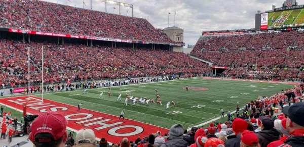 Ohio Stadium, secção: 9A, fila: 14, lugar: 18