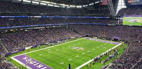 U.S. Bank Stadium, secção: 349, fila: E, lugar: 1