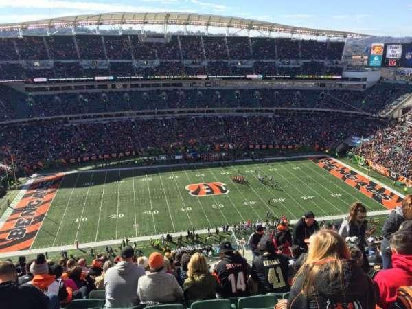 Paul Brown Stadium, secção: 342, fila: 25, lugar: 5