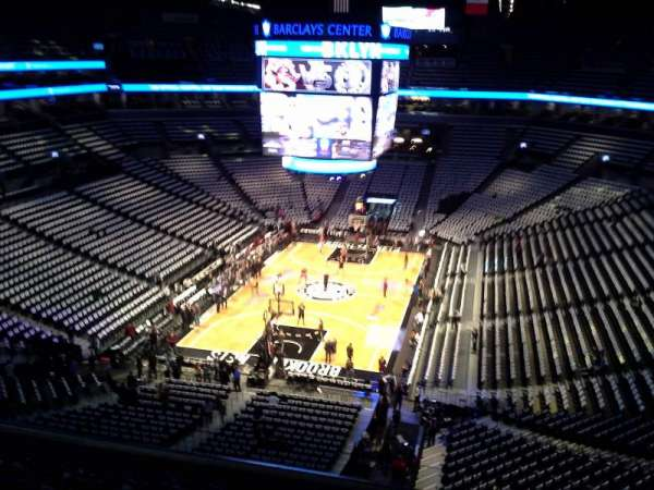 Barclays Center, secção: 231, fila: 7, lugar: 1