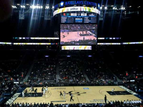 Barclays Center, secção: 108, fila: 8, lugar: 18