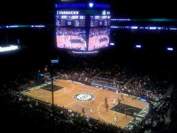 Barclays Center, secção: 221, fila: 2, lugar: 1
