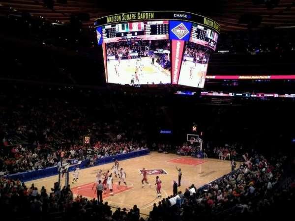 Madison Square Garden, secção: 104, fila: 20, lugar: 1