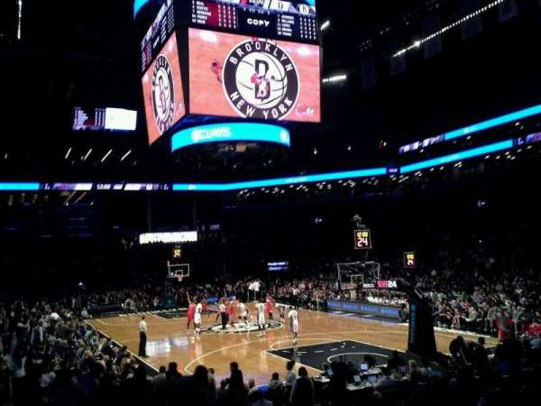 Barclays Center, secção: 19, fila: 12, lugar: 1