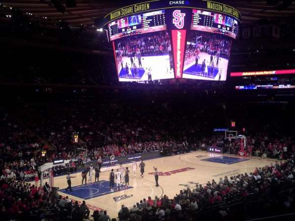 Madison Square Garden, secção: 114, fila: 19, lugar: 21