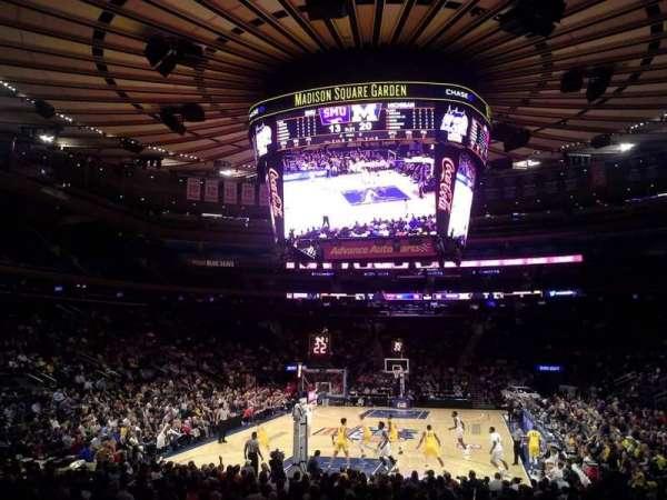 Madison Square Garden, secção: 103, fila: 10, lugar: 1