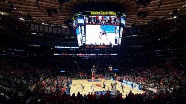 Madison Square Garden, secção: 101, fila: 16, lugar: 17