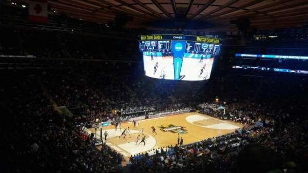 Madison Square Garden, secção: 208, fila: 5, lugar: 7