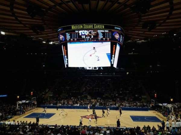 Madison Square Garden, secção: 107, fila: 20, lugar: 16
