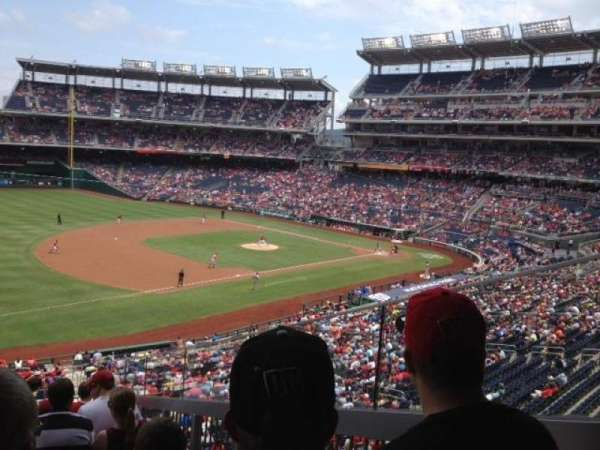 Nationals Park, secção: 205, fila: j, lugar: 3