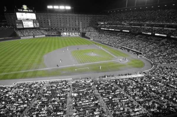 Oriole Park at Camden Yards, secção: 356, fila: 1, lugar: 1