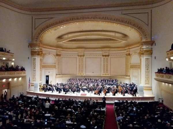 Carnegie Hall, secção: Box 29, fila: 1, lugar: 3
