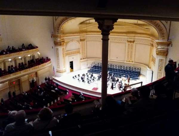 Carnegie Hall, secção: Dress Circle R, fila: FF, lugar: 38
