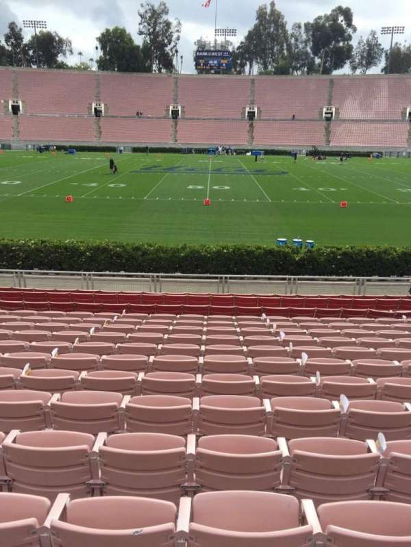 Rose Bowl, secção: 19-L, fila: 13