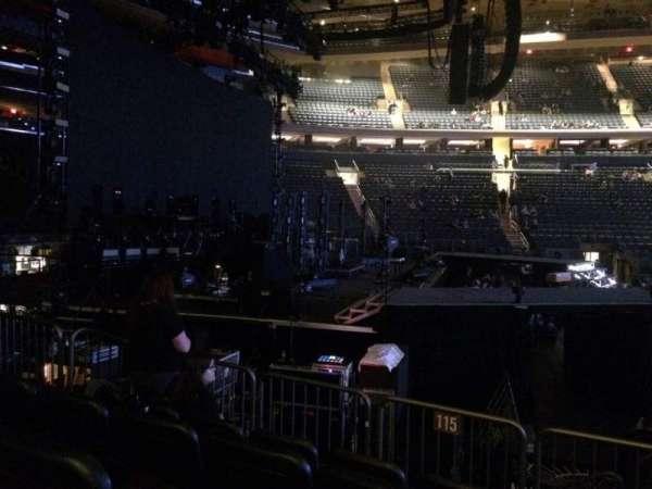 Madison Square Garden, secção: 115, fila: 6, lugar: 15