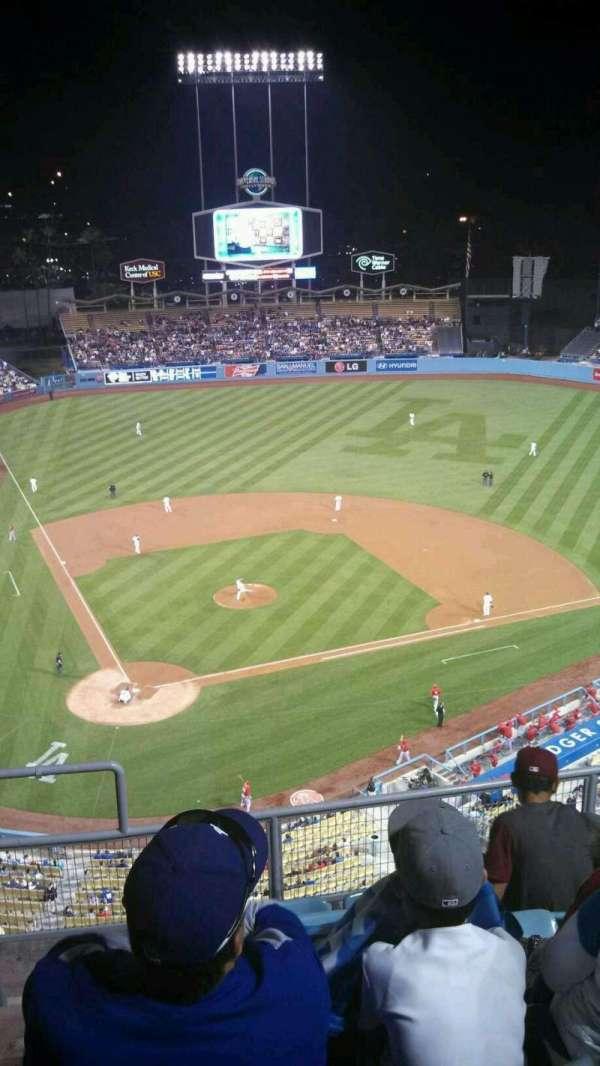 Dodger Stadium, secção: 8TD, fila: F, lugar: 2