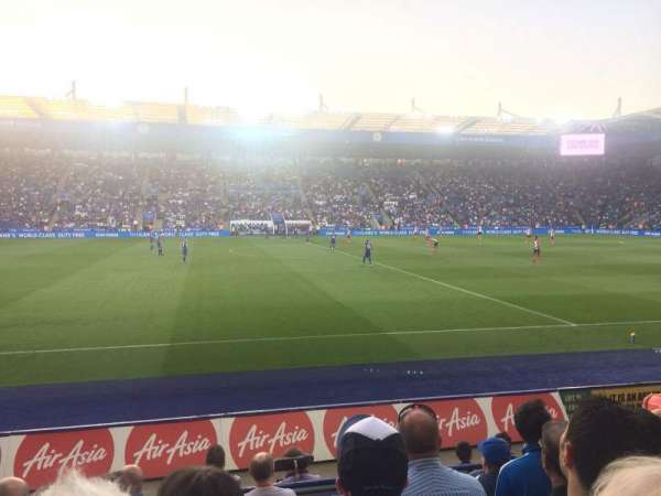 King Power Stadium, secção: J1, fila: G, lugar: 195