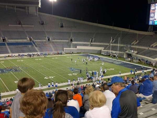 Liberty Bowl Memorial Stadium, secção: 105, fila: 20, lugar: 10