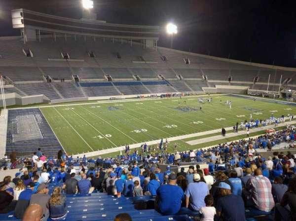 Liberty Bowl Memorial Stadium, secção: 108, fila: 50, lugar: 10