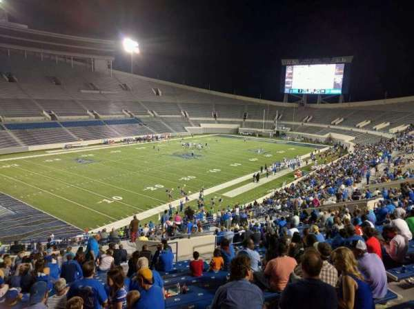 Liberty Bowl Memorial Stadium, secção: 109, fila: 50, lugar: 10