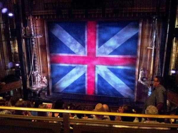 Nederlander Theatre, secção: Mezzanine C, fila: H, lugar: 101,102