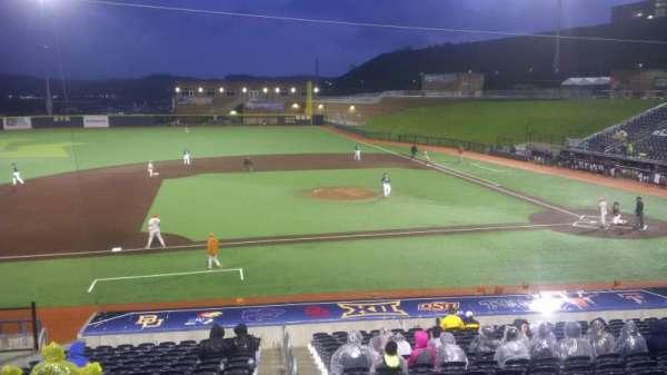 Monongalia County Ballpark, secção: 102, fila: R, lugar: 1