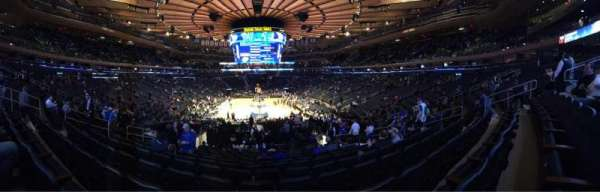 Madison Square Garden, secção: 112, fila: 17, lugar: 11