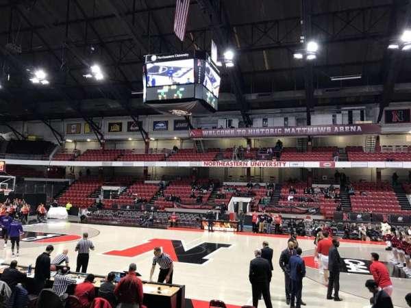 Matthews Arena, secção: 22, fila: F, lugar: 6