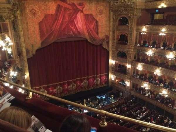 Teatro Colón, secção: Tertulia 1er Lateral, fila: 2, lugar: 75
