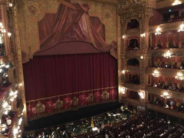 Teatro Colón, secção: Cazuela Lateral, fila: 1, lugar: 37