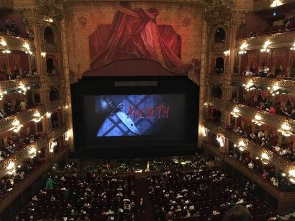 Teatro Colón, secção: Cazuela Centro, fila: 3, lugar: 71