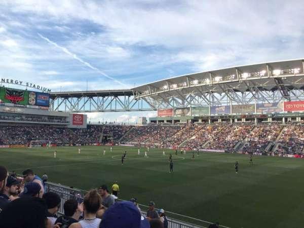 Talen Energy Stadium, secção: 103, fila: N, lugar: 14