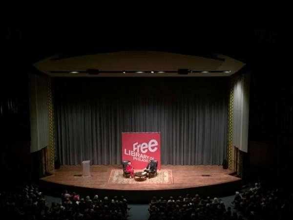 Irvine Auditorium, secção: Balcony, fila: Center