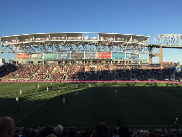 Talen Energy Stadium, secção: 106, fila: Z, lugar: 6