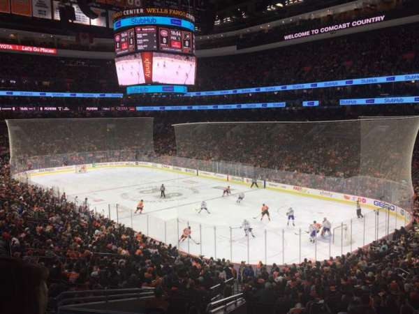 Wells Fargo Center, secção: Club, fila: A, lugar: 5