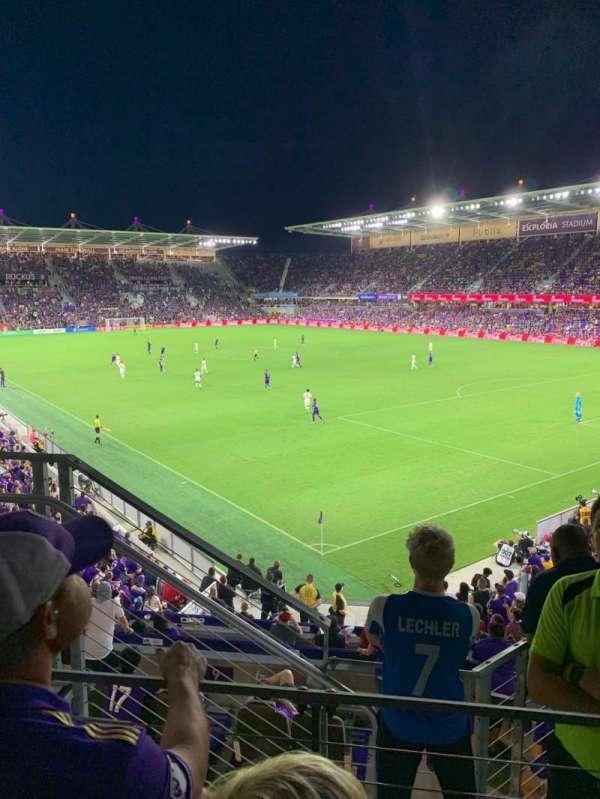 Exploria Stadium, secção: 108, fila: D, lugar: 3