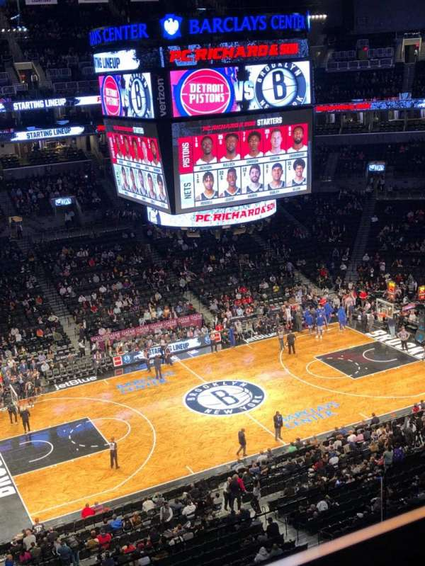 Barclays Center, secção: 221, fila: 10, lugar: 2
