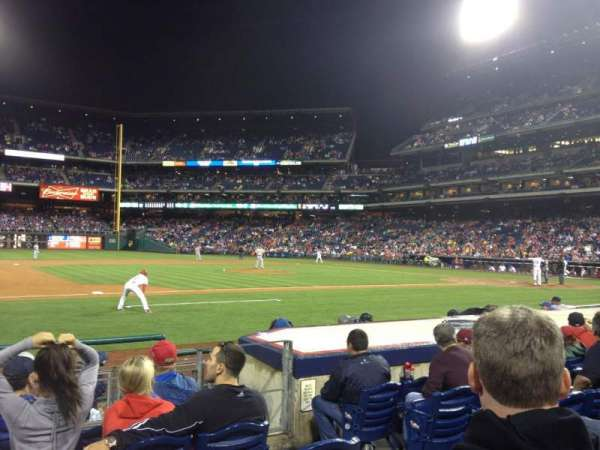 Citizens Bank Park, secção: 132, fila: 6, lugar: 4
