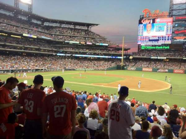 Citizens Bank Park, secção: 114, fila: 28, lugar: 10