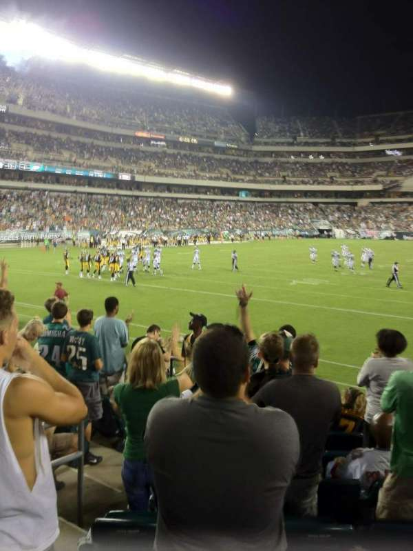 Lincoln Financial Field, secção: 132, fila: 8, lugar: 10
