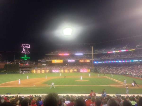 Citizens Bank Park, secção: 130, fila: 24, lugar: 4