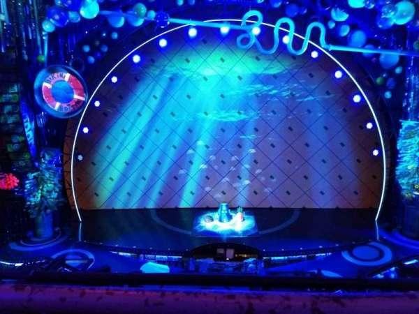 Palace Theatre (Broadway), secção: Mezzanine, fila: A, lugar: 107