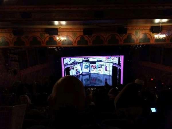 August Wilson Theatre, secção: Mezzanine C, fila: Q, lugar: 113